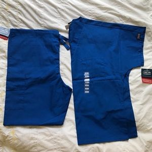 Blue unisex scrubs